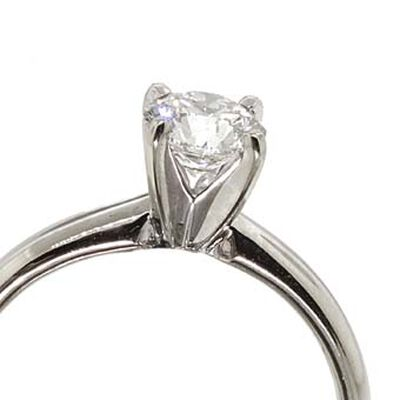 Ikuma Canadian Diamond Solitaire White Gold Ring 14K, 3/4 ct.