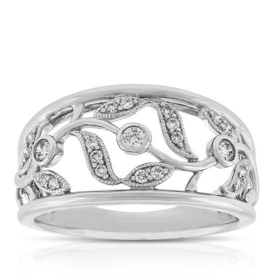 Vine and Leaf Diamond Ring 14K