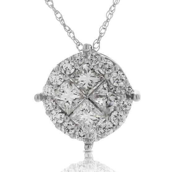 Cluster Diamond Pendant 14K