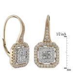 Pave Diamond Earrings 14K