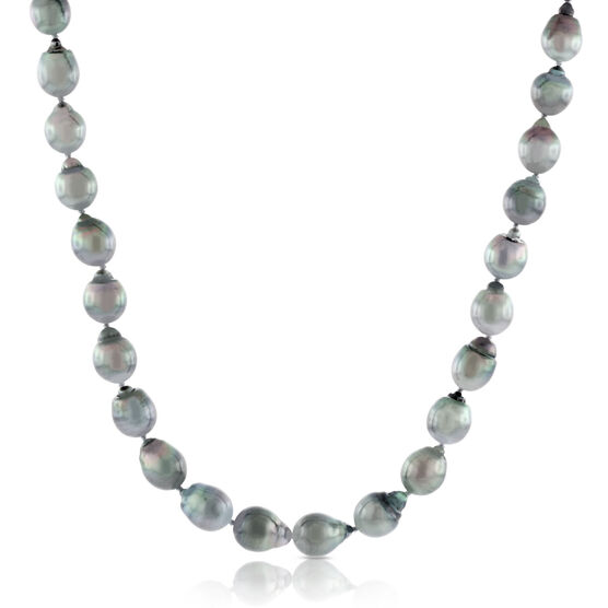 Tahitian South Sea Cultured Pearl Strand, Sterling Silver
