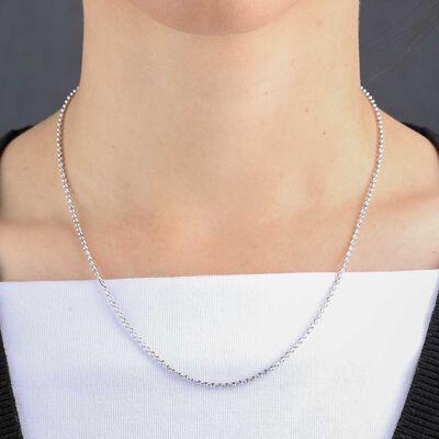 "Moon-Cut Bead Chain 14K, 18"""