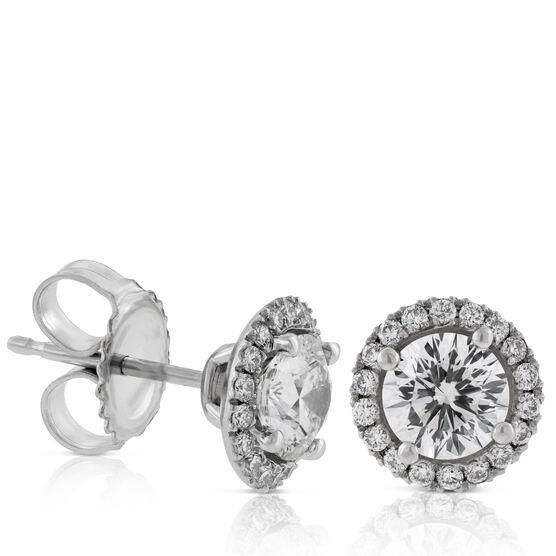 Signature Forevermark Diamond Halo Earrings 18K