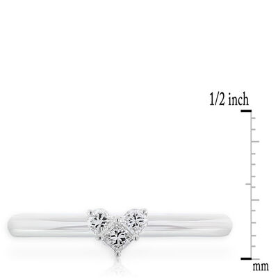 Heart Diamond Ring 14K