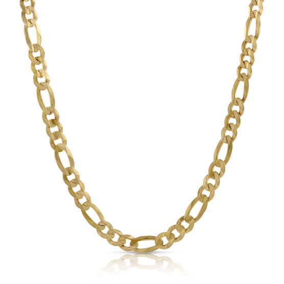 Solid Figaro Chain 14K, 24""