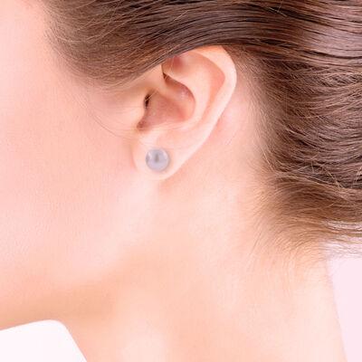 Freshwater Cultured Pearl Pink Stud Earrings 14K