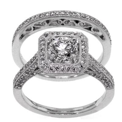 Diamond Wedding Set in Platinum