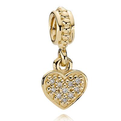 PANDORA Pavé Brilliant Heart Charm 14K