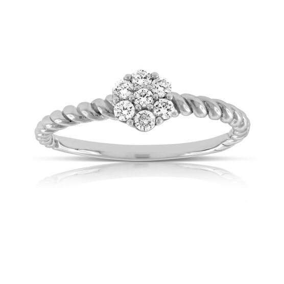 Twisted Diamond Ring 14K