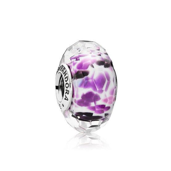 PANDORA Sea Glass Purple Charm