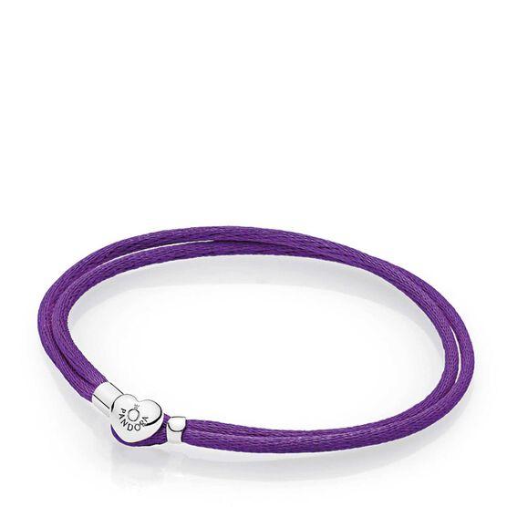PANDORA Purple Fabric Cord Bracelet