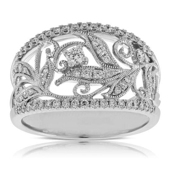 Diamond Floral Filigree Ring 14K