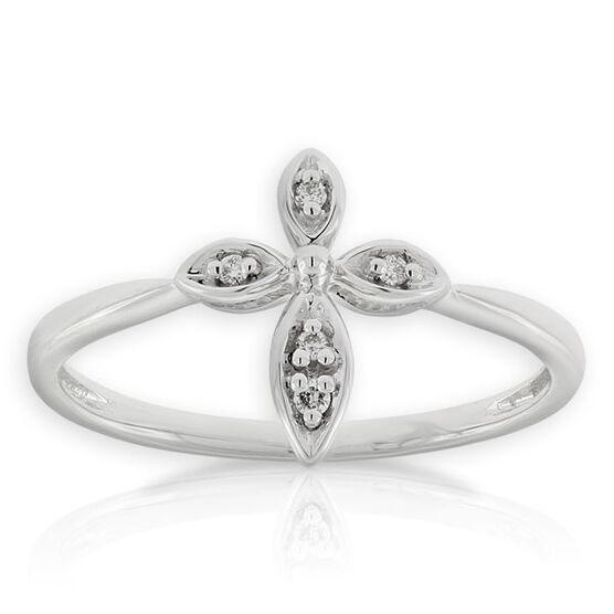 Diamond Cross Ring 14K