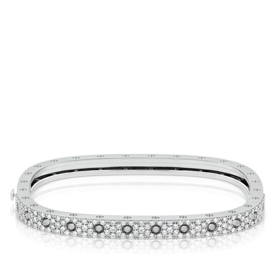 Roberto Coin Diamond Pavé Bangle Bracelet 18K
