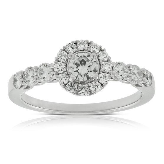 Halo Style Diamond Ring in Platinum
