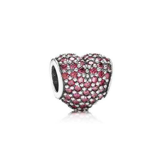 PANDORA Red Pave Heart Charm