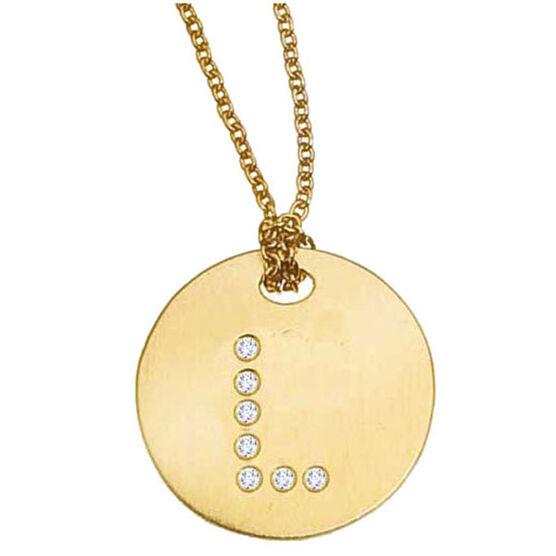 Roberto Coin Diamond Initial Pendant 18K Letter 'L'