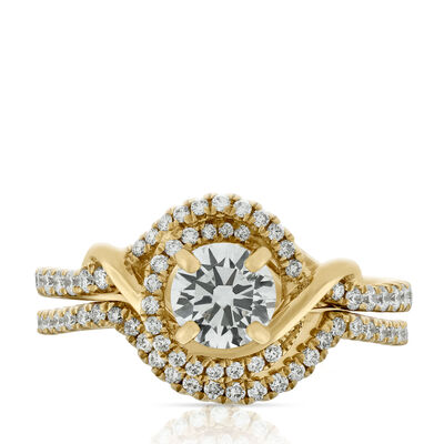 Diamond Wedding Set, 14K
