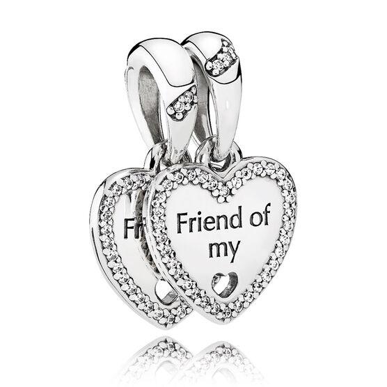 PANDORA Hearts of Friendship CZ Double Dangle Charm