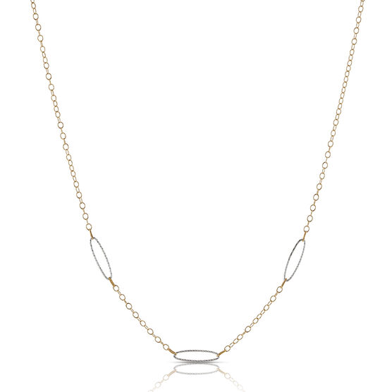 """Oval Link Chain 14K, 17"""""""