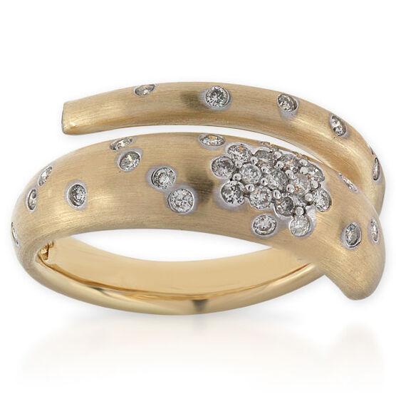 Whitney Stern Diamond Ring 14K, Size 7