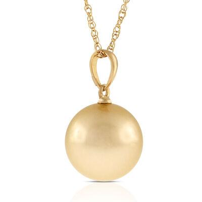 Golden South Sea Cultured Pearl Pendant 14K