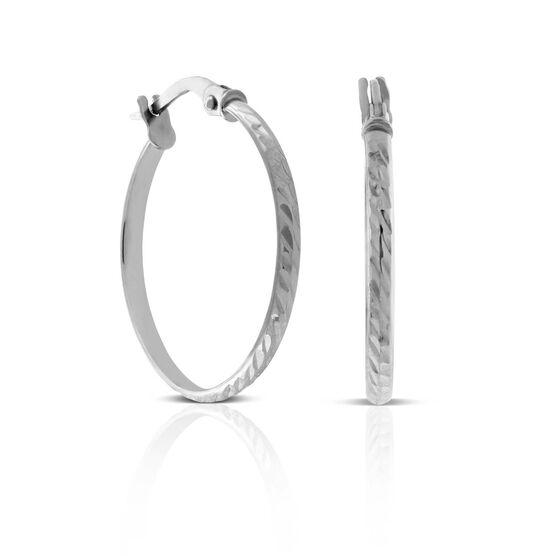 Etched Hoop Earrings 14K