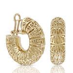 Toscano San Marco Hoop Earrings 18K