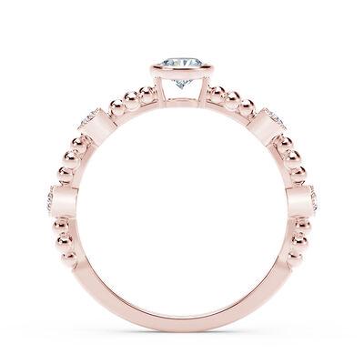 The Forevermark Tribute™ Collection Feminine Diamond Ring, 18K Rose Gold