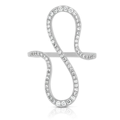 Curved Loop Diamond Ring 14K