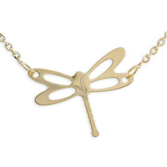 Dragonfly Necklace 14K