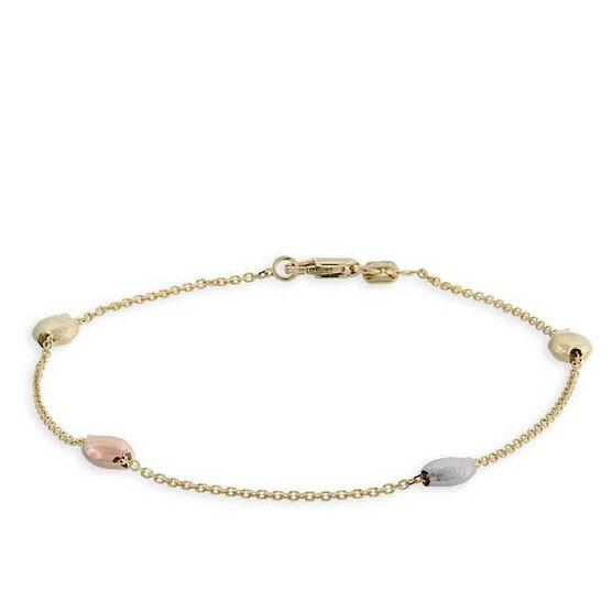 Tri-Color Bracelet 14K