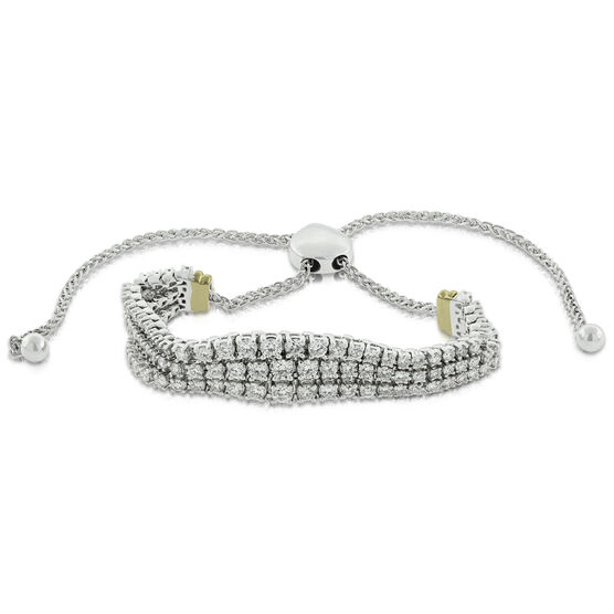 Bolo Diamond Bracelet, 3 ctw. 14K