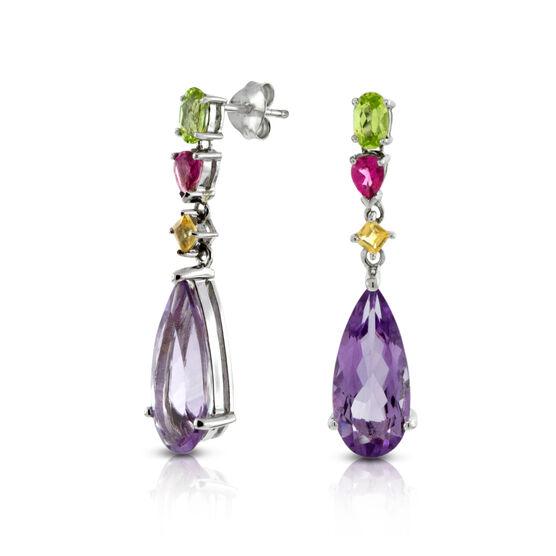Gemstone Drop Earrings 14K