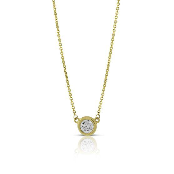 Bezel Set Diamond Necklace 14K