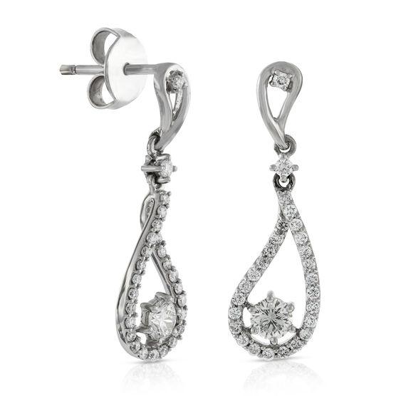 Signature Forevermark Diamond Drop Earrings 18K