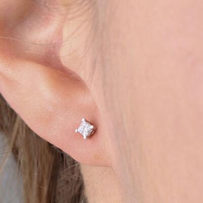 Diamond Earrings 14K, 1/4 ctw.
