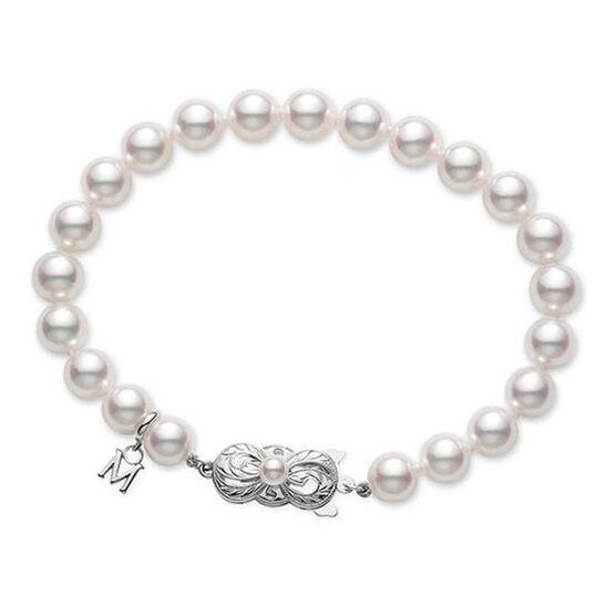 "Mikimoto Akoya Cultured Pearl Bracelet 7"", 18K"
