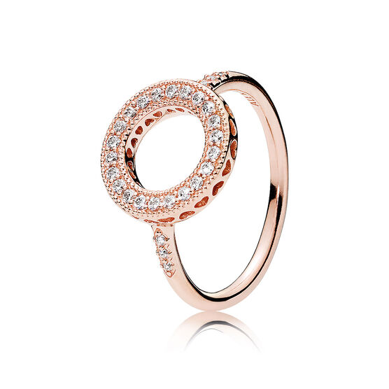 PANDORA Rose™ Hearts of PANDORA Halo CZ Ring