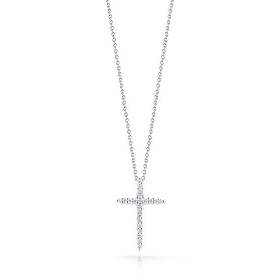 Roberto Coin Diamond Cross Pendant 18K