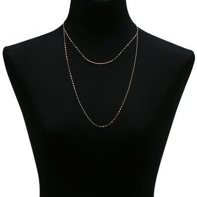Bar Necklace Mariner Chain 14K