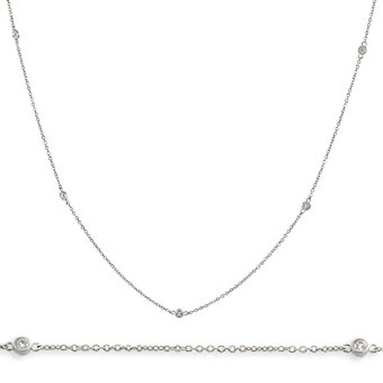 Diamond Chain in Sterling Silver, 24 in.
