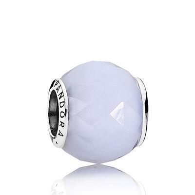 PANDORA White Geometric Facets Charm