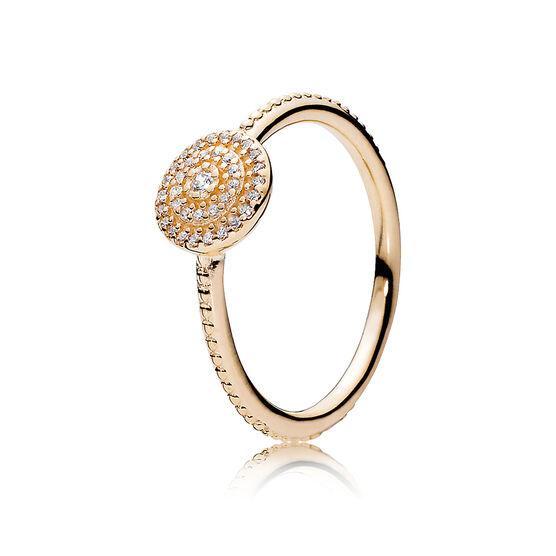 PANDORA Clear Radiant Elegance Ring 14K
