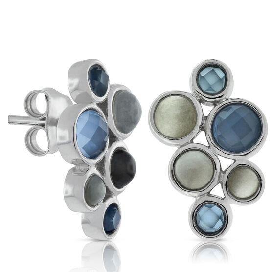 Lisa Bridge Moonstone & Chalcedony Bubble Earrings