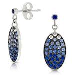 Sapphire & Diamond Earrings 14K