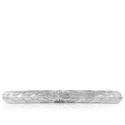 Engraved Band in Platinum