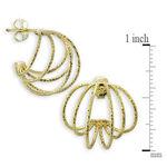 Toscano Wire Hoop Earrings 18K