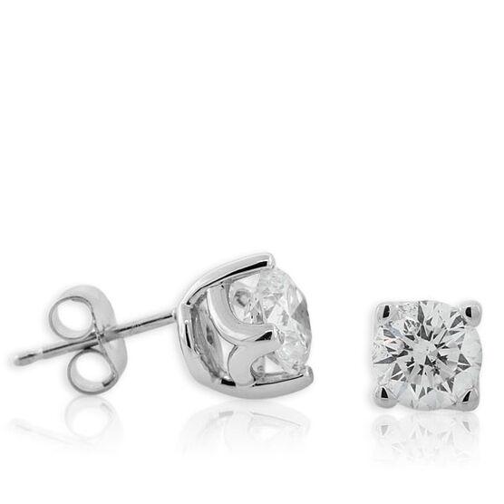 Forevermark Diamond Solitaire Earrings 18K, 1 & 1/2 ctw.