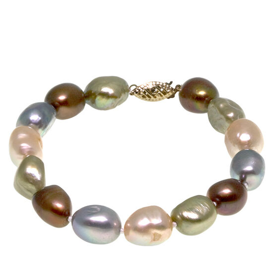 Dyed Freshwater Cultured Pearl Bracelet 14K